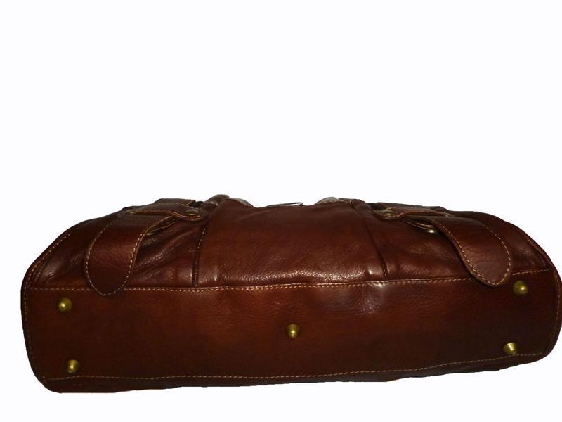 Стильная сумка натуральная кожа firenze италия - Фото 3