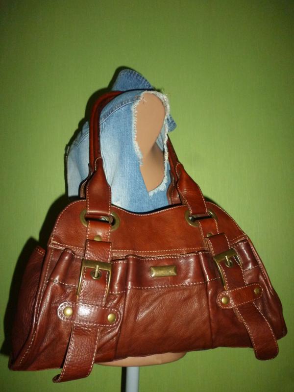 Стильная сумка натуральная кожа firenze италия - Фото 5