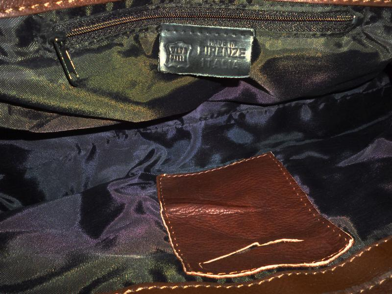 Стильная сумка натуральная кожа firenze италия - Фото 7