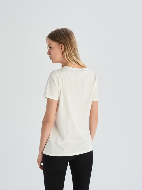 10-57 жіноча футболка sinsay з написом funny женская футболка - Фото 3