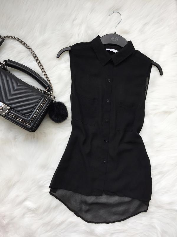 Шифоновая блуза, блуза, прозрачная блуза