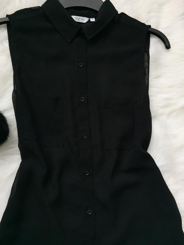 Шифоновая блуза, блуза, прозрачная блуза - Фото 4