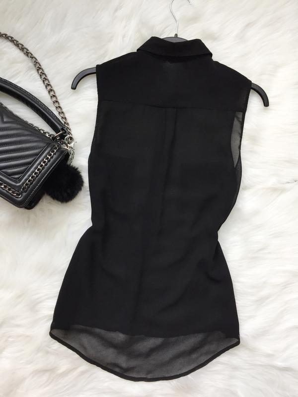 Шифоновая блуза, блуза, прозрачная блуза - Фото 5