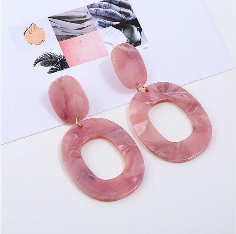 Сережки, кульчики, серьги, комбинированные серьги, розовые сер...