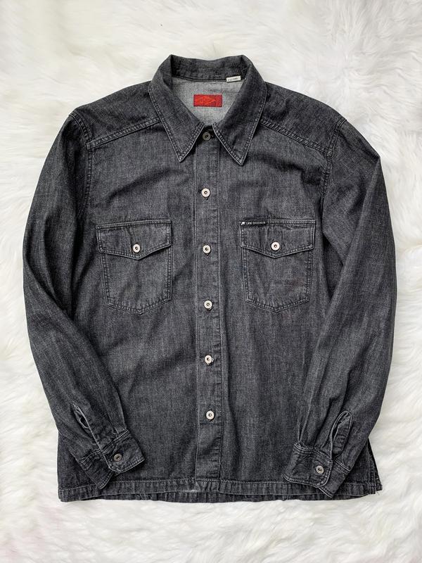Джинсовая рубашка, черная, джинс, джинсова сорочка, деним, сер...