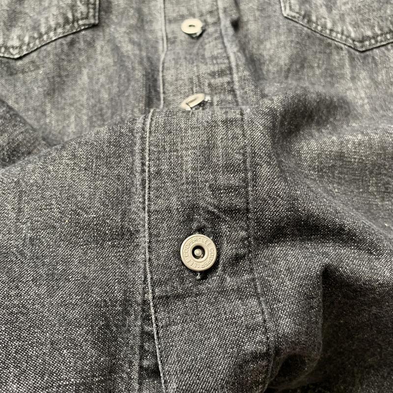 Джинсовая рубашка, черная, джинс, джинсова сорочка, деним, сер... - Фото 5