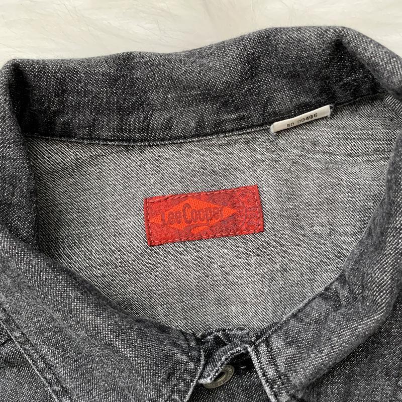 Джинсовая рубашка, черная, джинс, джинсова сорочка, деним, сер... - Фото 6