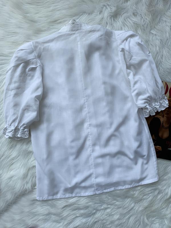 Стильная блуза, рубашка, сорочка, с рюшами, з рюшами, объемный... - Фото 3