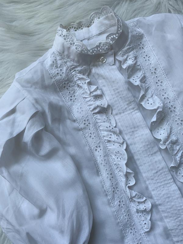 Стильная блуза, рубашка, сорочка, с рюшами, з рюшами, объемный... - Фото 4