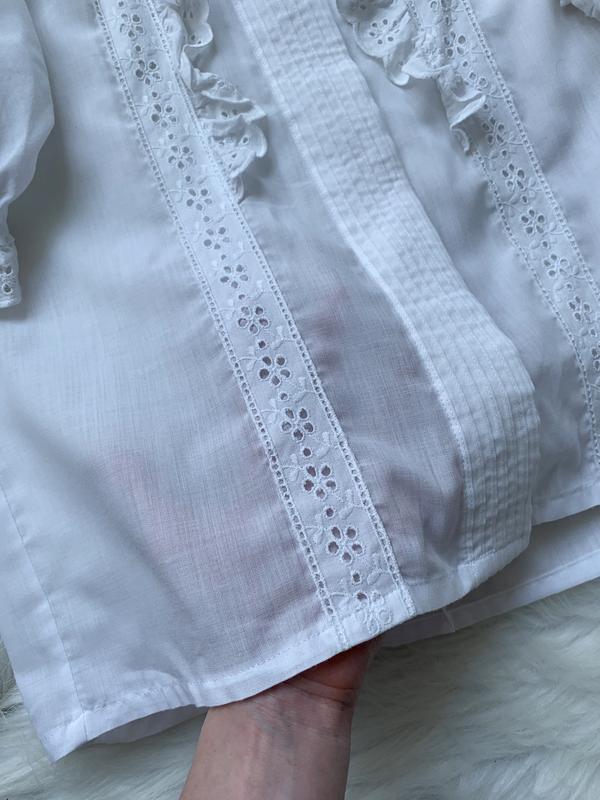 Стильная блуза, рубашка, сорочка, с рюшами, з рюшами, объемный... - Фото 7