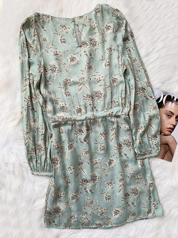 Платье, плаття, сукня, фисташковая,в цветок,фісташкова,в квіти... - Фото 2