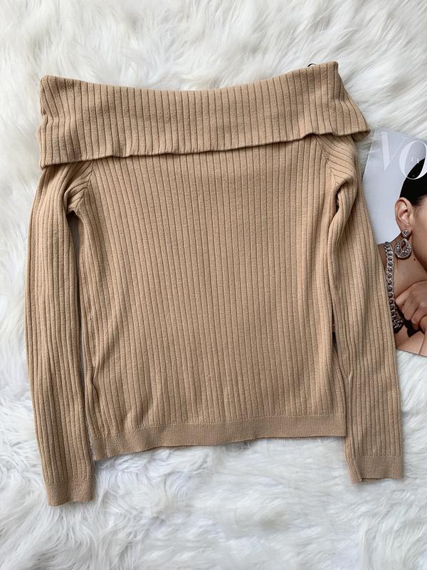 Кофта, джемпер, пуловер, плечи, бежевый, бежевая, беж, бежева,... - Фото 3