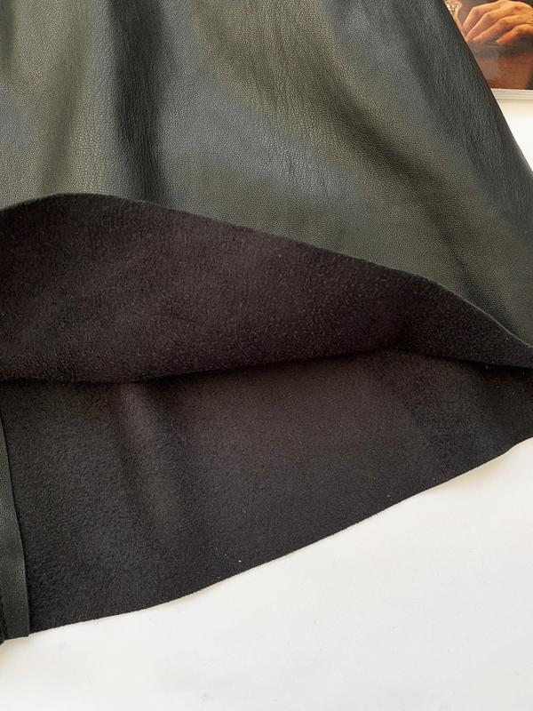 Юбка, кожаная юбка, шкіряна юбка, черная, чорна, кож. зам., шк... - Фото 4