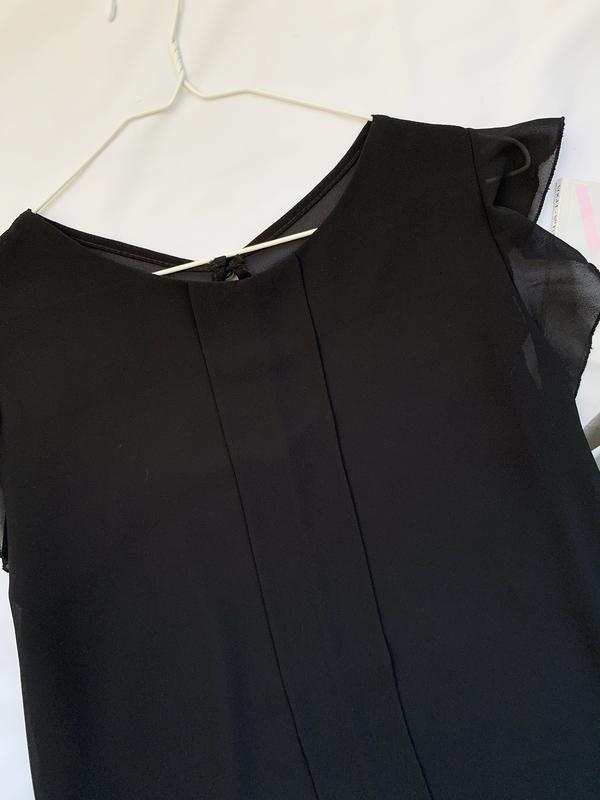 Блуза, блузка, шифоновая, шифонова, черная, чорна - Фото 3