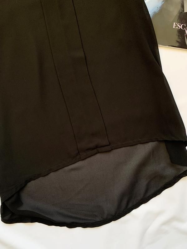 Блуза, блузка, шифоновая, шифонова, черная, чорна - Фото 5