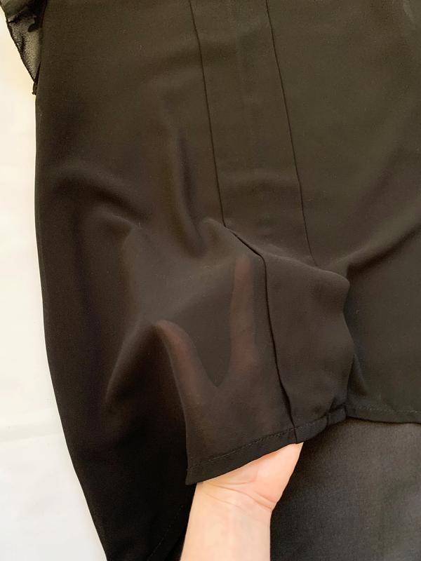 Блуза, блузка, шифоновая, шифонова, черная, чорна - Фото 6