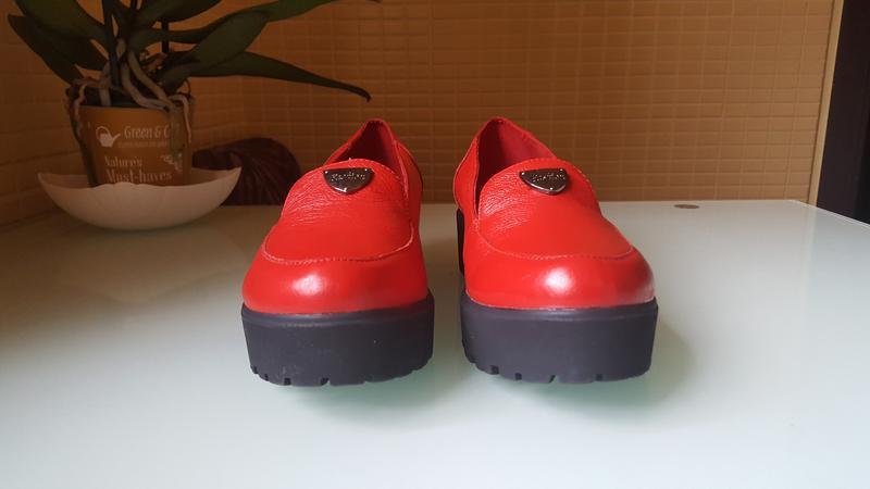 Модные женские кожаные туфли ksl цвет -красный - Фото 5