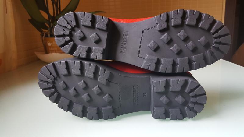 Модные женские кожаные туфли ksl цвет -красный - Фото 6