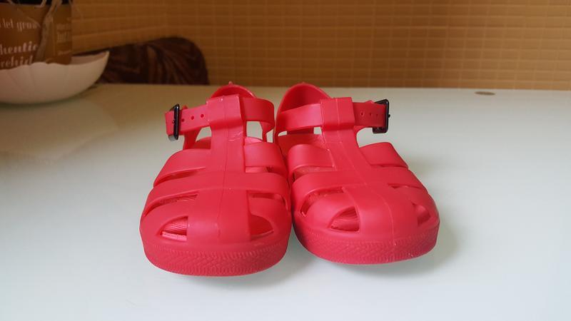 Детские босоножки сандали силиконовые фирменные river island - Фото 2