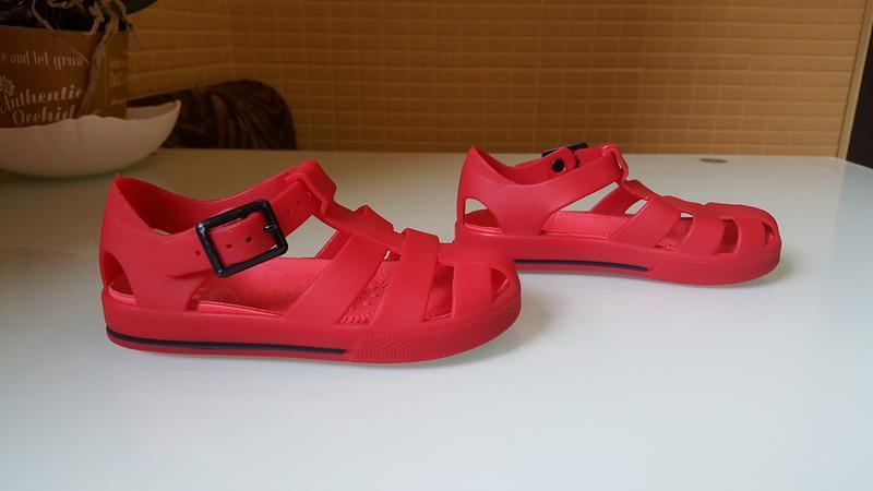 Детские босоножки сандали силиконовые фирменные river island - Фото 3