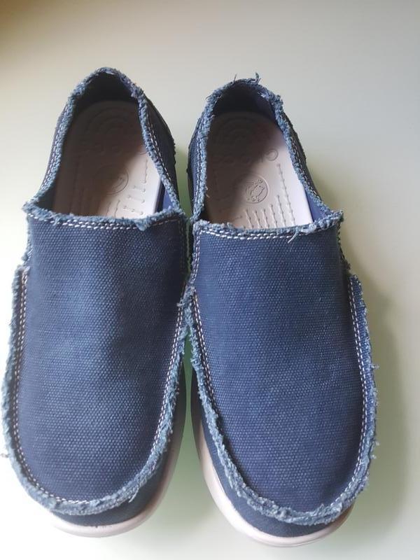 Мужские фирменые мокасины crocs original - Фото 9