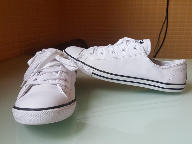 Брендовые модные белые кеды converse original