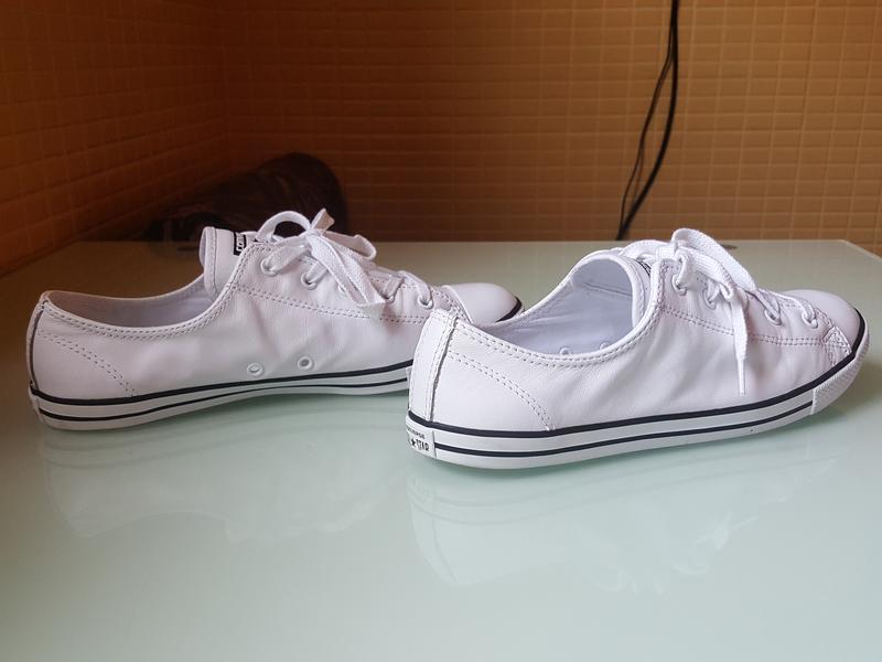 Брендовые модные белые кеды converse original - Фото 3