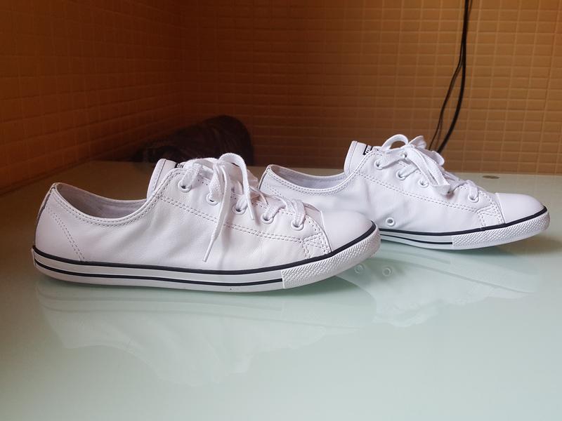 Брендовые модные белые кеды converse original - Фото 4