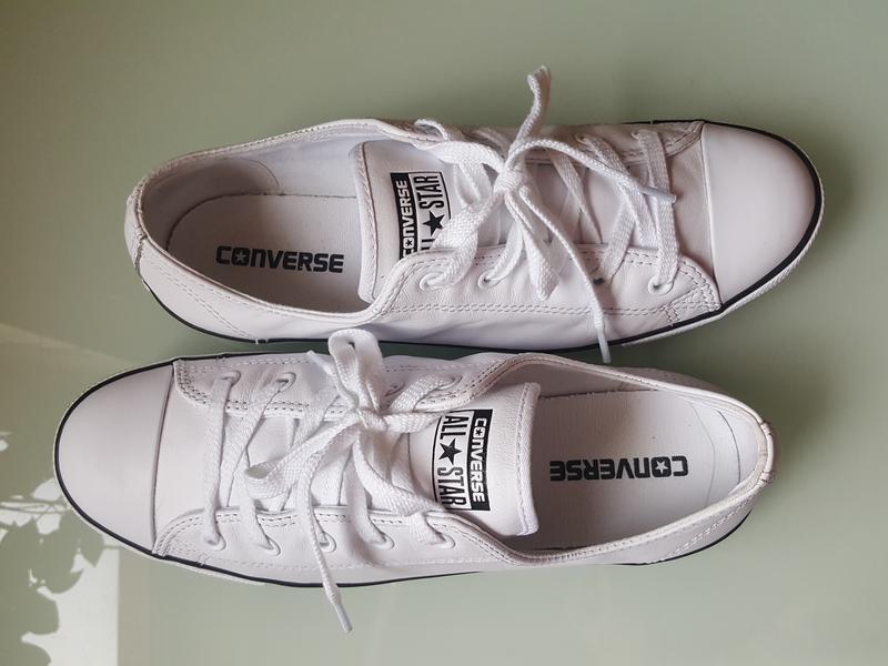 Брендовые модные белые кеды converse original - Фото 5