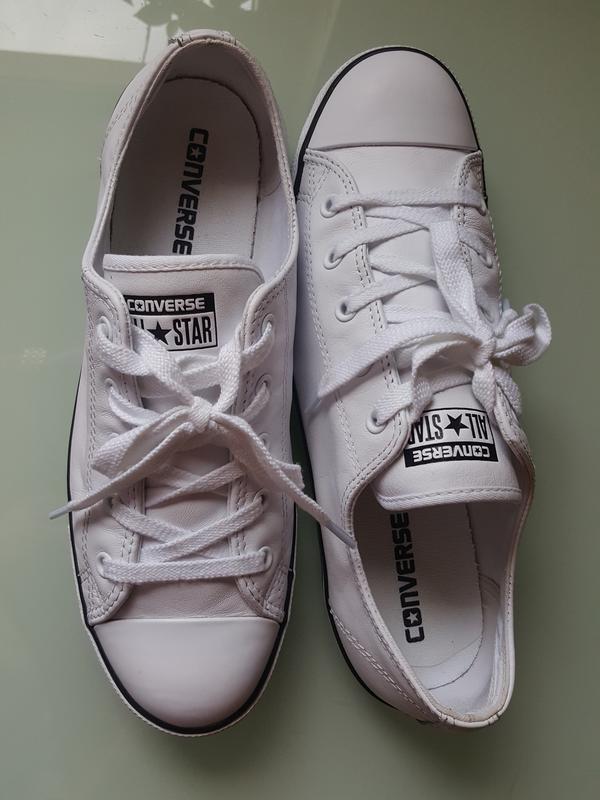 Брендовые модные белые кеды converse original - Фото 6