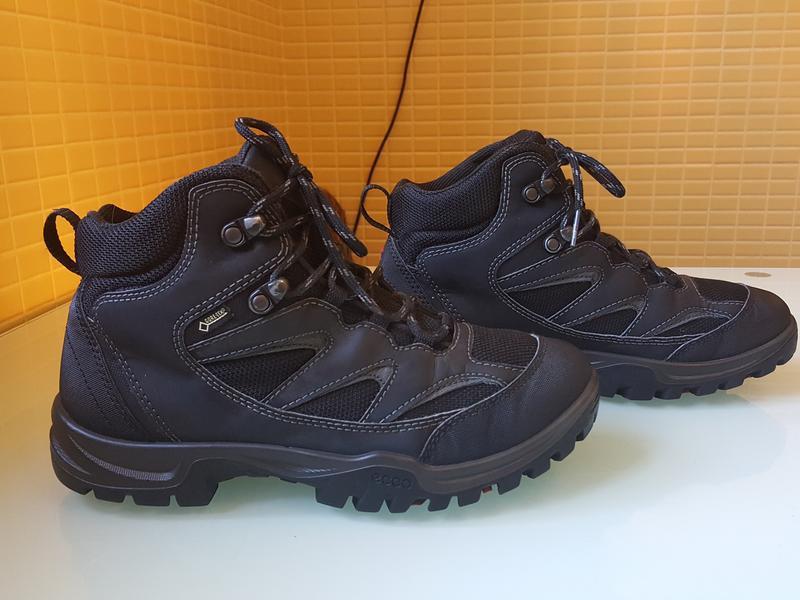 Горные фирменные ботинки ecco gore-tex original - Фото 3