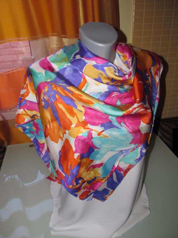Женский шелковый платок - Фото 2