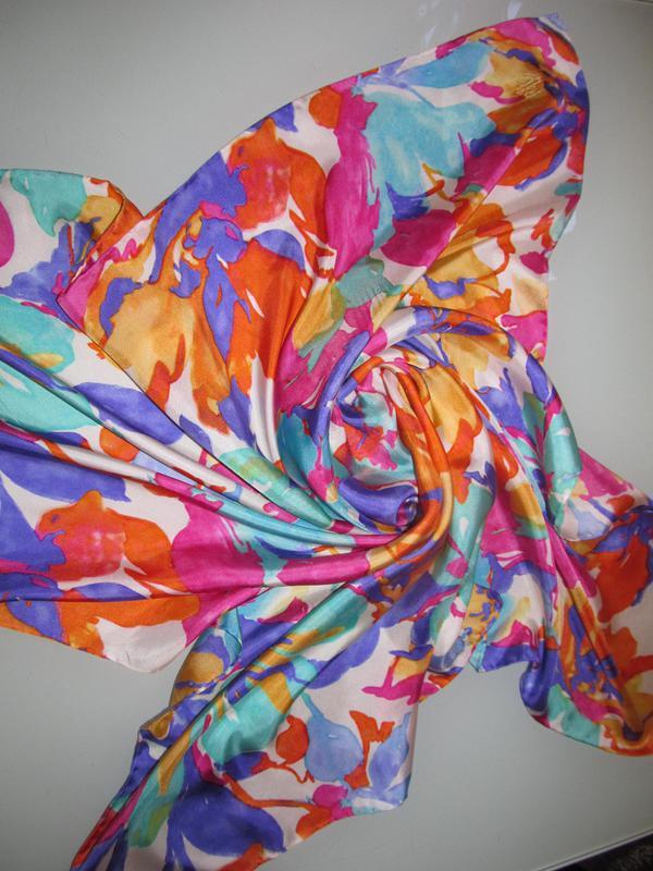 Женский шелковый платок - Фото 4