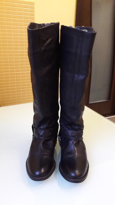 Высокие кожаные сапоги urban vintage