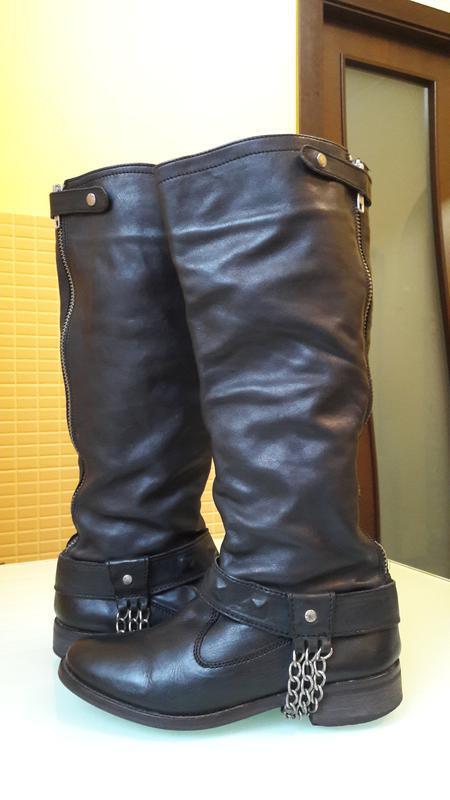 Высокие кожаные сапоги urban vintage - Фото 2