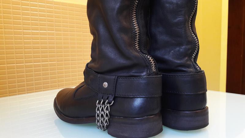 Высокие кожаные сапоги urban vintage - Фото 3