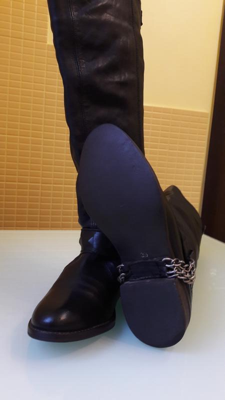 Высокие кожаные сапоги urban vintage - Фото 4