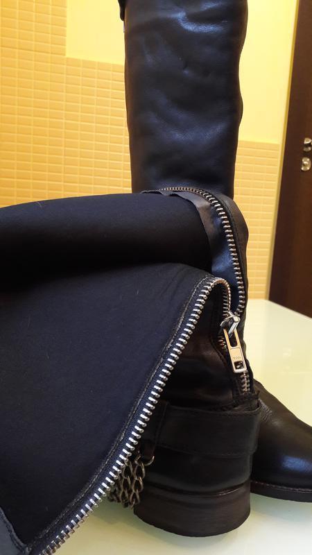 Высокие кожаные сапоги urban vintage - Фото 5