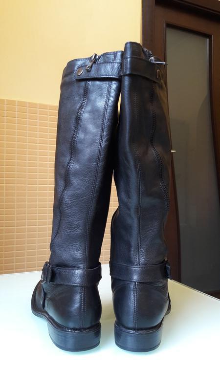 Раскошенные высокие кожаные сапоги san marina - Фото 4