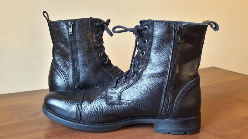 Брендовые кожаные ботинки jack&jones - Фото 2