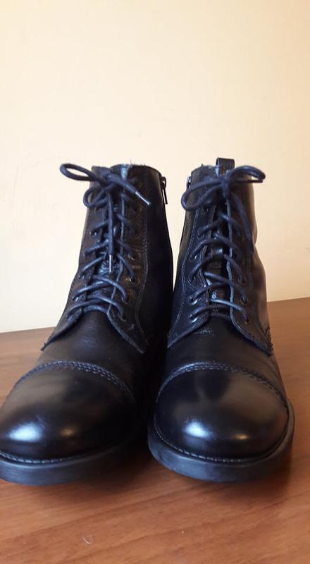 Брендовые кожаные ботинки jack&jones - Фото 4