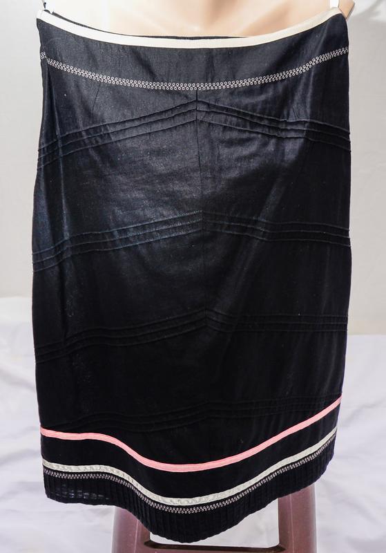 Черная льняная юбка - Фото 4