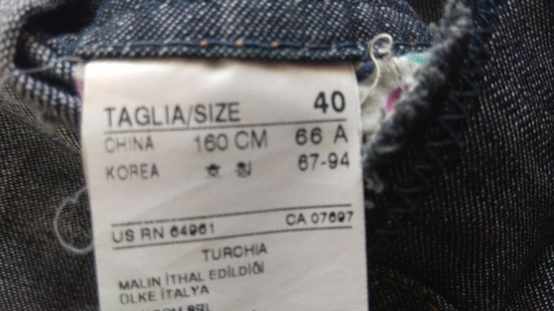 Суперский джинсовый сарафан sisley - Фото 6