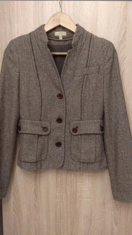 Модный крутой твидовый пиджак бренда kookai - Фото 2