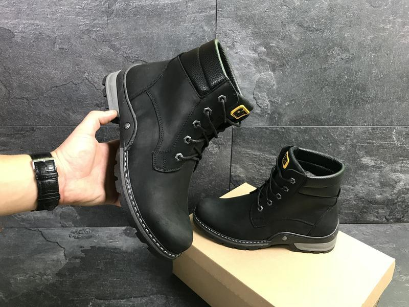 Мужские зимние ботинки, натуральная кожа, с 40 по 45