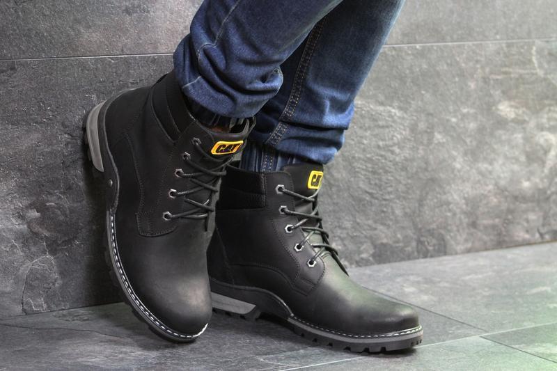 Мужские зимние ботинки, натуральная кожа, с 40 по 45 - Фото 3