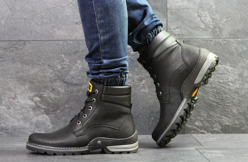 Мужские зимние ботинки, натуральная кожа, с 40 по 45 - Фото 4