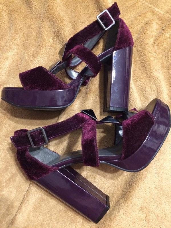 Grazia бархатные босоножки туфли сандали - Фото 7