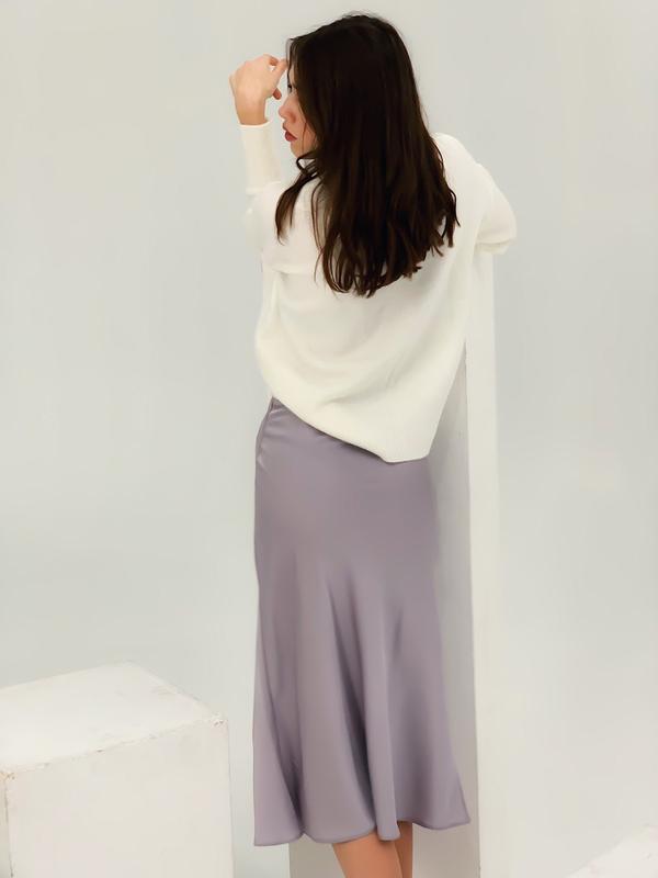 Шелков юбка миди - Фото 3