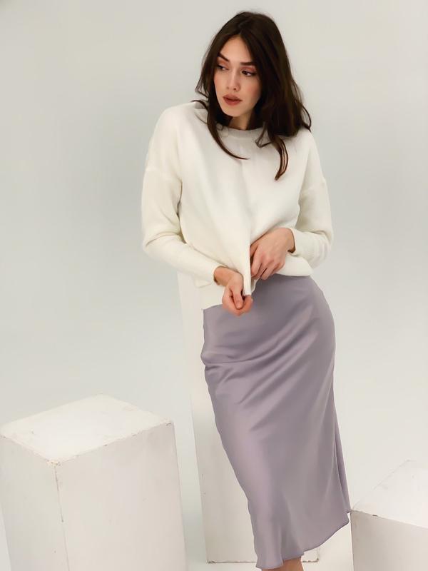 Шелков юбка миди - Фото 5
